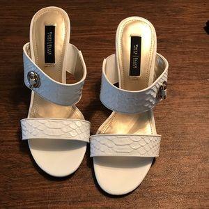 White wedge/heel sandals